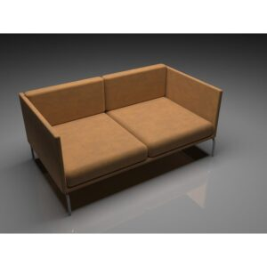 Office Sofa With Two Seats - Brown