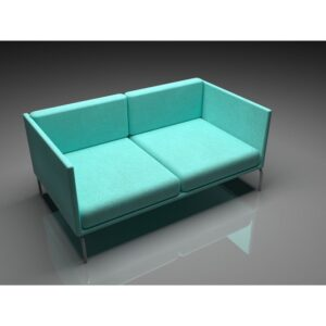 Office Sofa Two Seats - Blue