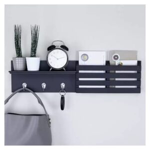 Wall Wood Shelves - Rectangle Stand - Grey
