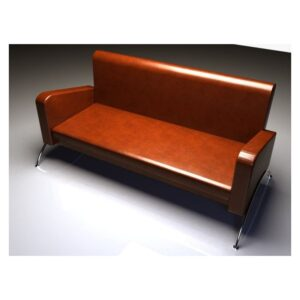 Leather waiting Sofa - Brown